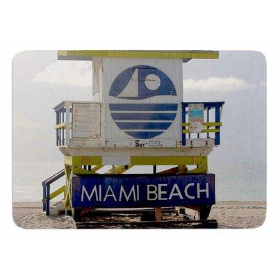 Miami Beach Lifeguard Stand by Philip Brown Bath Mat