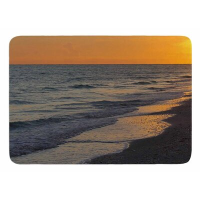 Sunset Beach by Philip Brown Bath Mat