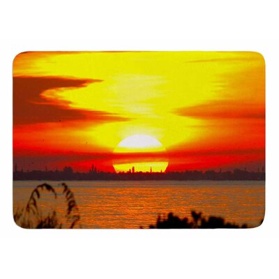 Sunrise On Sanibel by Philip Brown Bath Mat