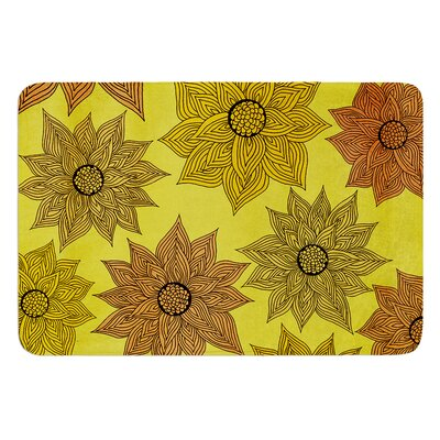 Its Raining Flowers by Pom Graphic Design Bath Mat