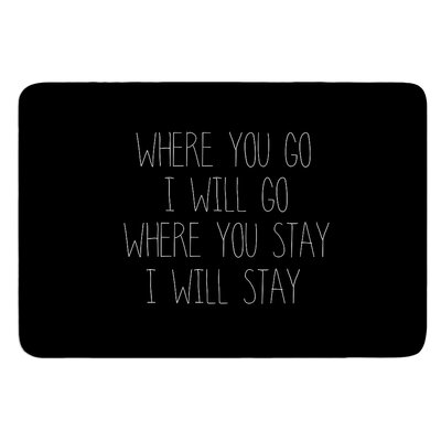 Where You Go by Suzanne Carter Bath Mat