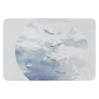 Feathers by Suzanne Carter Bath Mat