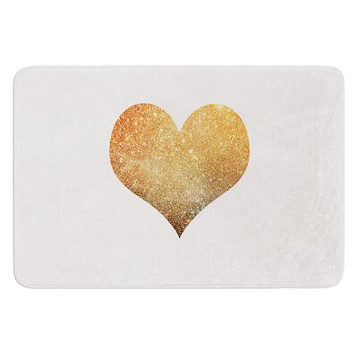 Gold Heart by Suzanne Carter Bath Mat