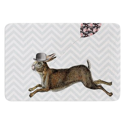 Hare Today by Suzanne Carter Bath Mat