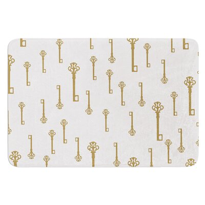 Vintage Gold Keys II by Suzanne Carter Bath Mat