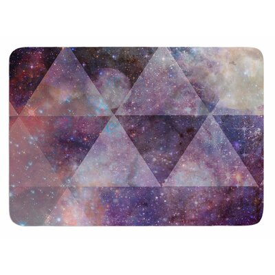 Geometric stars by Suzanne Carter Bath Mat
