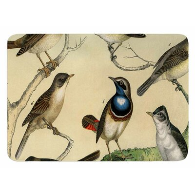Vintage Birds by Suzanne Carter Bath Mat