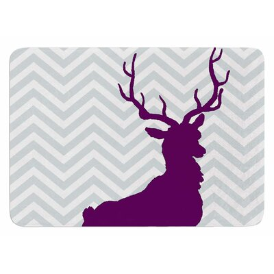 Chevron Deer by Suzanne Carter Bath Mat