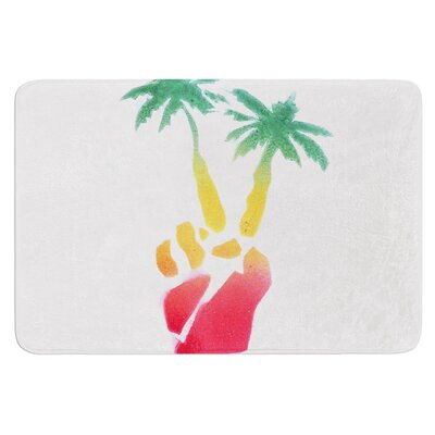 Peace Palms by Infinite Spray Art Bath Mat