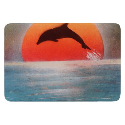 Dolphin Sunset by Infinite Spray Art Bath Mat