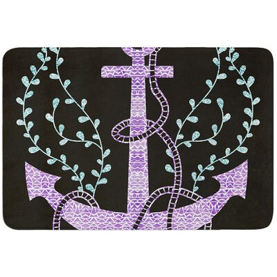 Tribal Nautica by Pom Graphic Design Bath Mat Color: Black
