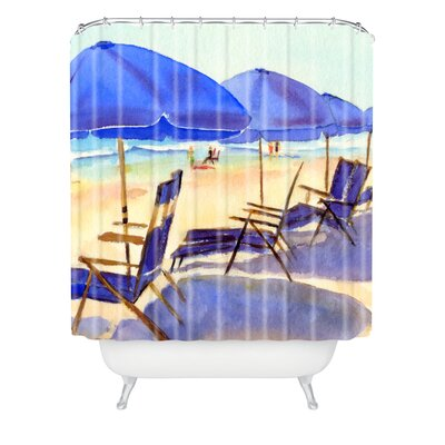Beach Chairs by Laura Trevey Shower Curtain