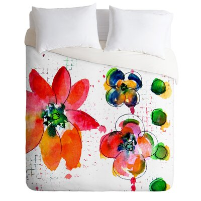 Summer in Watercolor by Laura Trevey Lightweight  Duvet Cover Size: Queen