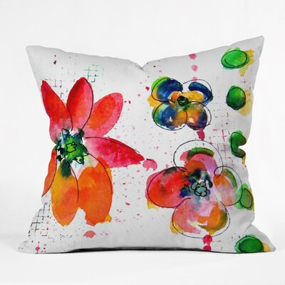 Summer in Watercolor by Laura Trevey Indoor/Outdoor Throw Pillow Size: 18 H x 18 W x 5 D