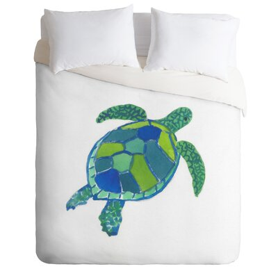 Sea Turtle by Laura Trevey Lightweight Duvet Cover Size: Twin