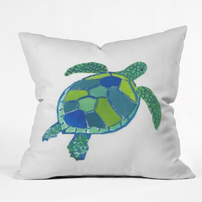 Sea Turtle by Laura Trevey Indoor/Outdoor Throw Pillow Size: 26 H x 26 W x 7 D
