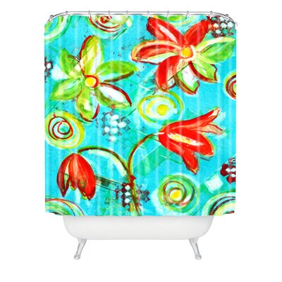 Tangerine Tango by Laura Trevey Shower Curtain
