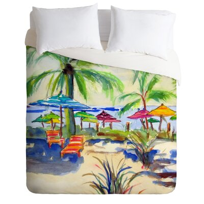 Caribbean Time by Laura Trevey Lightweight Duvet Cover Size: King