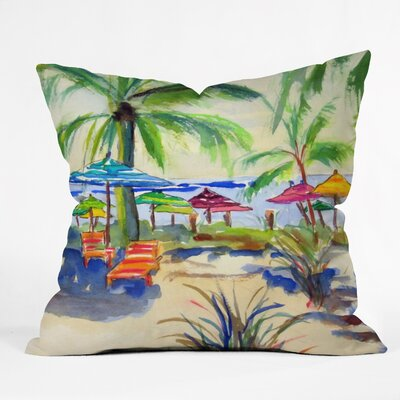 Caribbean Time Outdoor Throw Pillow Size: 16 H x 16 W x 4 D