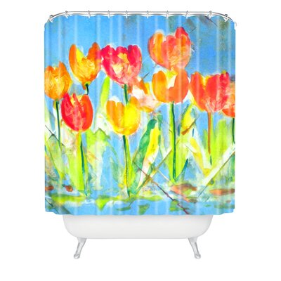 Spring Tulips by Laura Trevey Shower Curtain