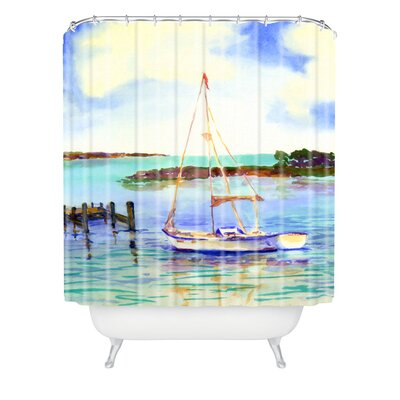 Summer Sail by Laura Trevey Shower Curtain