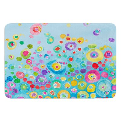 Inner Circle by Catherine Holcombe Bath Mat Color: Blue, Size: 17W x 24L