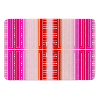 Deco City by Nina May Bath Mat Color: Pink/Red