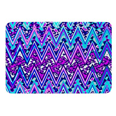 Electric Chevron by Nika Martinez Bath Mat Color: Blue