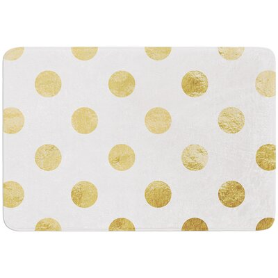 Scattered Bath Mat Color: White