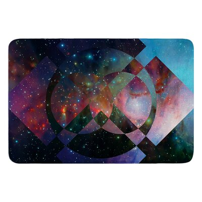 Galactic Radiance by Matt Eklund Bath Mat Color: Red
