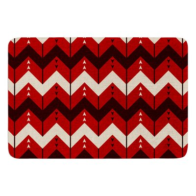 Chevron Dance by Nick Atkinson Bath Mat Color: Red