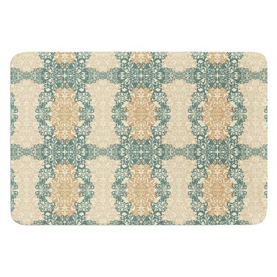 Fancy Damask by Mydeas Bath Mat Color: Black/White, Size: 17W x 24L