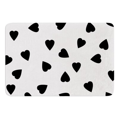 Hearts by Suzanne Carter Bath Mat Color: White