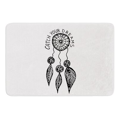 Catch Your Dreams by Vasare Nar Bath Mat Color: Black