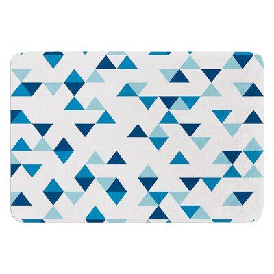 Triangles by Project M Bath Mat Color: Blue