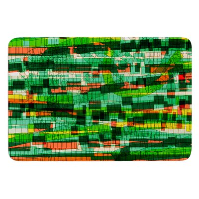 Squares Traffic by Frederic Levy-Hadida Bath Mat Color: Green, Size: 17W x 24L