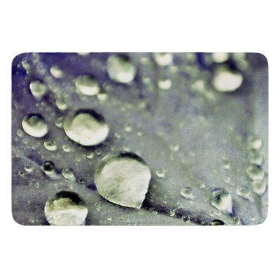 Water Droplets by Iris Lehnhardt Bath Mat Color: Blue, Size: 24 W x 36 L