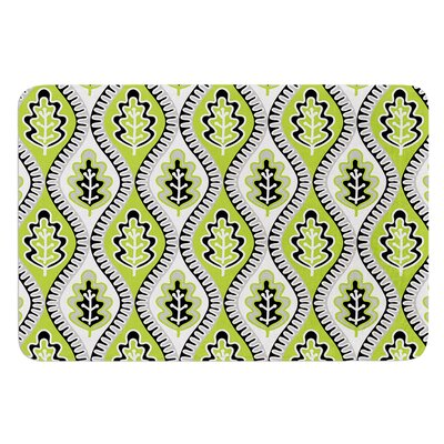 Oak Leaf by Jacqueline Milton Bath Mat Color: Lime, Size: 17W x 24L