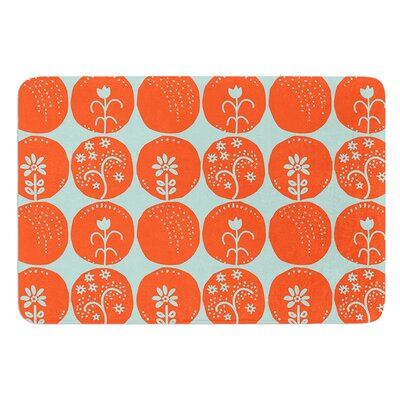 Dotty Papercut by Nandita Singh Bath Mat Color: Orange, Size: 17W x 24L