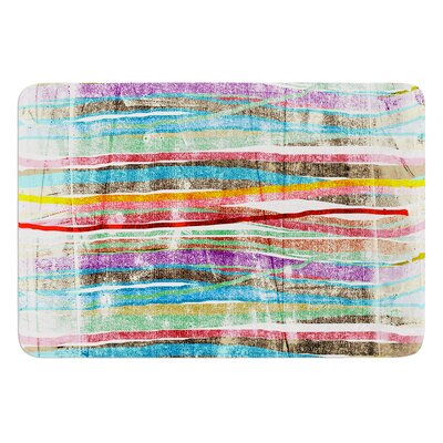 Fancy Stripes by Frederic Levy-Hadida Bath Mat Color: Light, Size: 24 W x 36 L