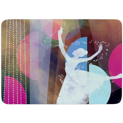 Ballet by AlyZen Moonshadow Bath Mat Color: Pink
