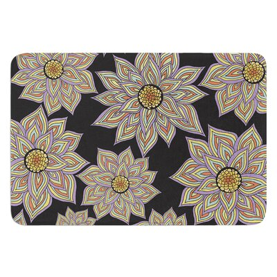 Floral Dance by Pom Graphic Design Bath Mat Color: Black