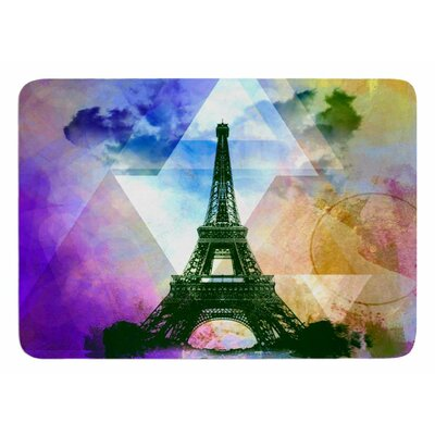 Eiffel Tower by AlyZen Moonshadow Bath Mat Color: Deep Pink