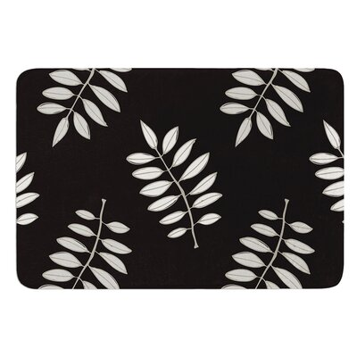 Pagoda Leaf by Laurie Baars Bath Mat Color: Black