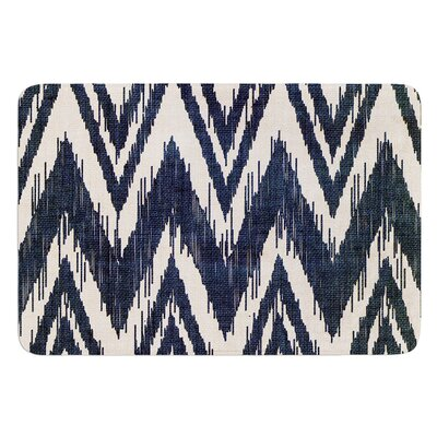 Tribal Chevron by Heidi Jennings Bath Mat Color: Aqua, Size: 17W x 24L