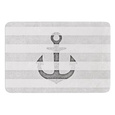 Stone Vintage Anchor by Monika Strigel Bath Mat Color: Gray