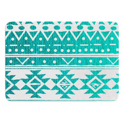 Aquamarine Tribal by Nika Martinez Bath Mat