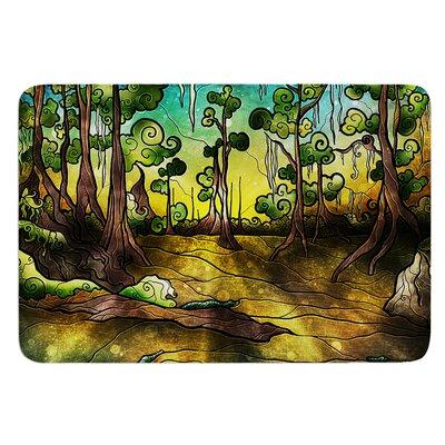 Aligator Swamp by Mandie Manzano Bath Mat