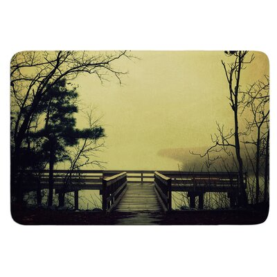 Fog on the River by Robin Dickinson Bath Mat