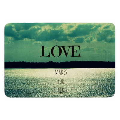 Love Makes You Sparkle by Robin Dickinson Bath Mat